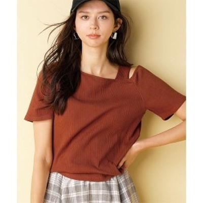 ラナン(Ranan)/アシメデザインリブTシャツ