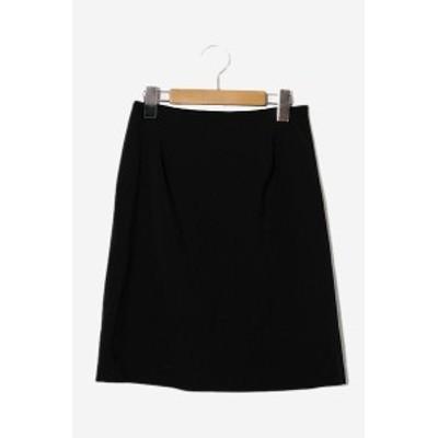 【中古】2018SS m's select エムズセレクト 無地 膝丈 タイトスカート 36 Black 黒 E427-002 /◆☆ レディース
