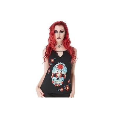 ブラウス ジョーブレイカー レディース Jawbreaker Sugar Skull ファッション Top Day of the Dead Tattoo