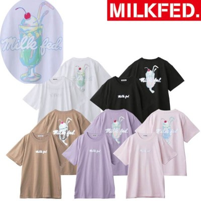 ティシャツ tシャツ ミルクフェド MILKFED SS TEE PARFAIT 半袖 トップス 103211011039 パフェ レディース  Tシャツ ロゴ バックプリント