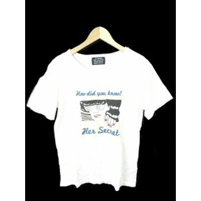 【中古】スライ SLY Tシャツ カットソー クルーネック 半袖 プリント F 白 ホワイト /TK40 レディース