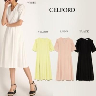 SALE50%OFF CELFORD セルフォード ワンピース 通販 フィット&フレアカットワンピース ドレス cwco202004