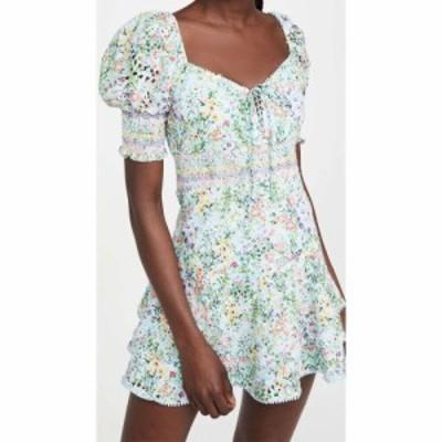 アリス アンド オリビア alice + olivia レディース ワンピース ミニ丈 Crawford Sweetheart Puff Sleeve Mini Dress Coastal Gardens Po