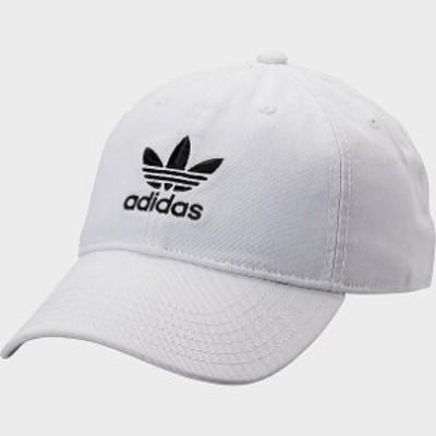 アディダス オリジナルス キャップ adidas Originals Precurved Washed Strapback Hat 帽子 White/Black