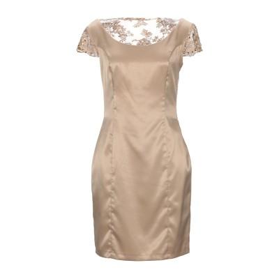 BAGATELLE ミニワンピース&ドレス ベージュ 44 ポリエステル 94% / ポリウレタン 6% ミニワンピース&ドレス