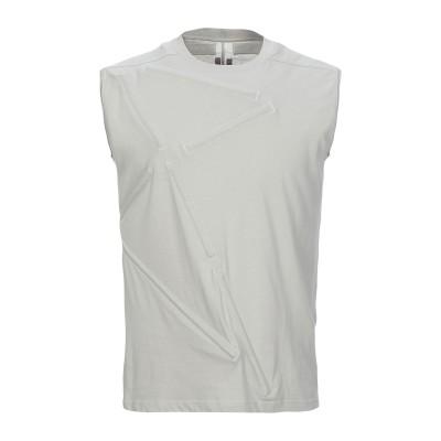 リック オウエンス RICK OWENS T シャツ ライトグレー S コットン 100% / アルミニウム T シャツ