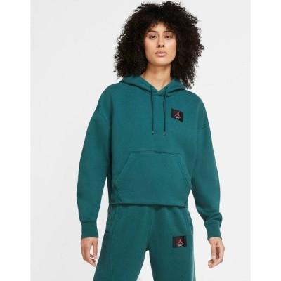 ジョーダン レディース パーカー・スウェットシャツ アウター Nike Jordan Statement Essentials hoodie in teal Teal