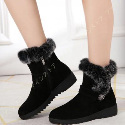 レディース スノーブーツ 女性のショート 暖かい シューズ 美脚 歩きやすい 日常 あたたかインナー PUレザー ショートブーツ アウトドアシューズ