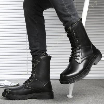 バイク ブーツ メンズ 防水 防滑 春秋冬 メンズブーツ 黒 ハイカット ロングブーツ ライディング 靴 耐衝撃性 通気 防寒ブーツ 厚底 ビジネスブーツ
