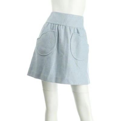 アニエスベー スカート サイズML M レディース 美品 ライトブルー系 タイトスカート 表地:ウール100%  裏地:キュプラ【中古】20201020