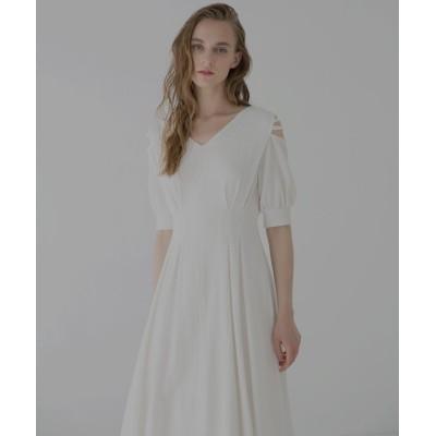 【ミエリ インヴァリアント】 Bumpy Tuck Dress レディース ホワイト F(フリーサイズ) MIELI INVARIANT