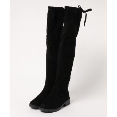 STYLEBLOCK / バックリボンローヒールニーハイブーツ WOMEN シューズ > ブーツ