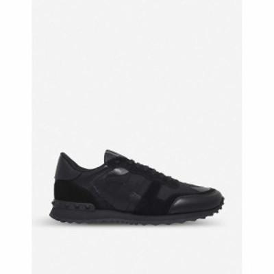ヴァレンティノ VALENTINO GARAVANI メンズ スニーカー シューズ・靴 Rockrunner camo leather trainers BLACK