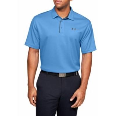アンダーアーマー メンズ シャツ トップス Tech Polo Shirt 475 Carolina Blue