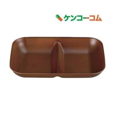 皿 ウッディ 仕切皿 ライトブラウン 17*24.2*3.6cm ( 1枚入 )