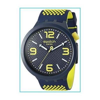Swatch Big Bold Quartz Silicone Strap, Blue, 24 Casual Watch (Model: SO27N102) 141[並行輸入]【並行輸入品】
