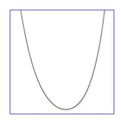 """14k White Gold 1.5mm Solid Cable Chain Necklace - with Secure Lobster Lock Clasp 22"""""""