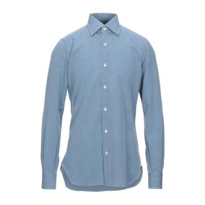 イザイア ISAIA シャツ ブルーグレー 42 コットン 80% / リネン 20% シャツ