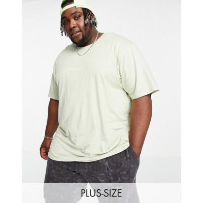 ナイト アディクト Night Addict メンズ Tシャツ バックプリント トップス Plus Spirit Back Printed T-Shirt In Sage グリーン