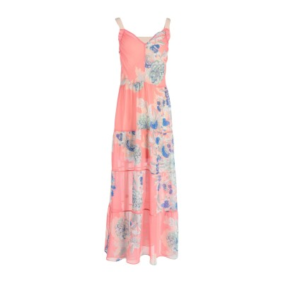 KATIA GIANNINI ロングワンピース&ドレス ピンク 42 ポリエステル 100% ロングワンピース&ドレス