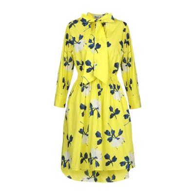 TEIJA ミニワンピース&ドレス イエロー 6 コットン 100% ミニワンピース&ドレス