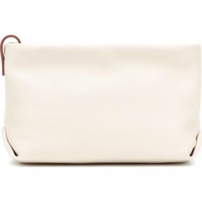 ロロピアーナ Loro Piana レディース クラッチバッグ バッグ inside out leather clutch White