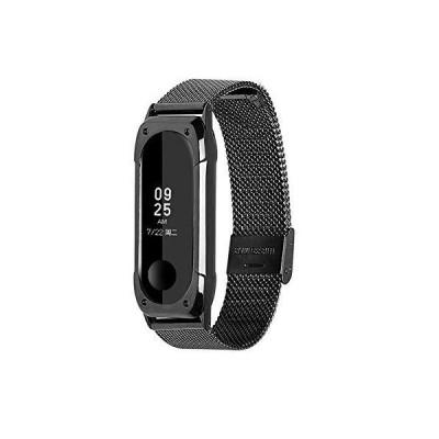 PINHEN For Xiaomi Miband4 / Miband3 腕時計バンド ステンレス/ナイロン/レザー/メッシュ素材製 交換ベルト (Me