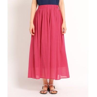 Dessin(Ladies)(デッサン(レディース))【洗える】キュプラコットンボイルスカート