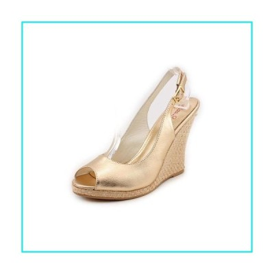 Lilly Pulitzer Kristin Wedge Gold Metallic 7.5【並行輸入品】