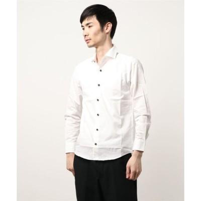 シャツ ブラウス 【日本製】ブロードワイドカラーシャツ