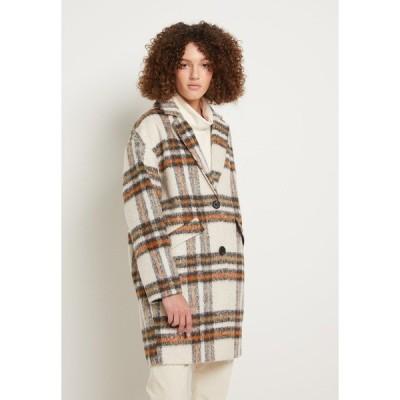トムテイラーデニム コート レディース アウター CHECK COCOON COAT - Classic coat - creme beige