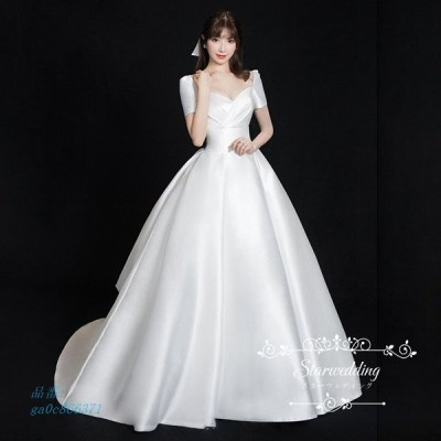 ウェディングドレス プリンセスラインドレス ピアノ発表会 大人 袖あり パーティードレス ウエディングドレス 演奏会 花嫁 イブニングドレス 二次会 結婚式