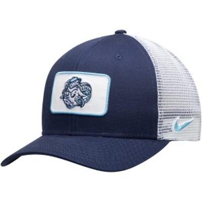 ナイキ メンズ 帽子 アクセサリー North Carolina Tar Heels Nike Classic 99 Alternate Logo Trucker Adjustable Snapback Hat Navy