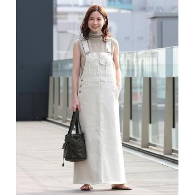 (Demi-Luxe BEAMS/デミルクスビームス)upper hights / 別注 THE LAUREEN ジャンパースカート/レディース CHALK