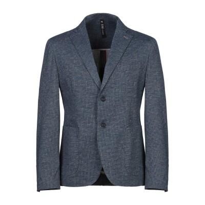 FAG テーラードジャケット ブルーグレー 50 コットン 68% / ナイロン 27% / ポリウレタン 5% テーラードジャケット