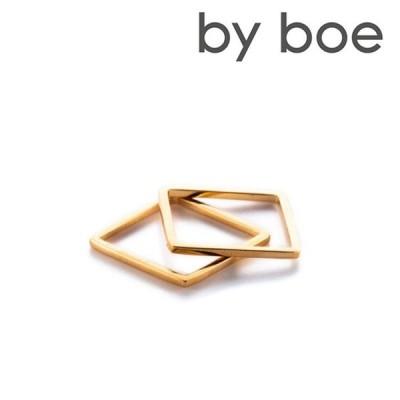 アクセサリー リング 指輪 byboe バイボー ANNIKA INEZ アニカ イネズ メール便で送料無料 MR-5 THIN スクエアリング ゴールド ハンドメイド[M便 1/3][YP2]