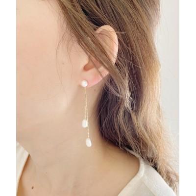 wears / パールアンバランスロングピアス WOMEN アクセサリー > ピアス(両耳用)