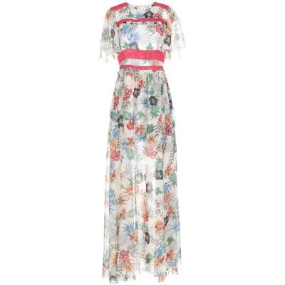 TENAX ロングワンピース&ドレス アイボリー 46 ポリエステル 100% ロングワンピース&ドレス