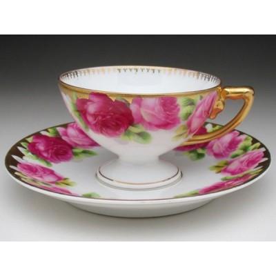 ローゼンタール 金彩薔薇絵 カップ&ソーサー アンティーク 1900年頃