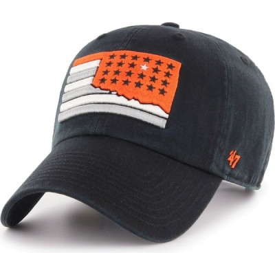 フォーティセブン 47 メンズ キャップ 帽子 Oklahoma State Cowboys Sure Shot Clean Up Adjustable Black Hat