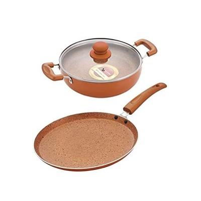 特別価格Nirlon Ultimate Induction Base Non Stick Aluminium 3 Piece Cookware Pots an好評販売中