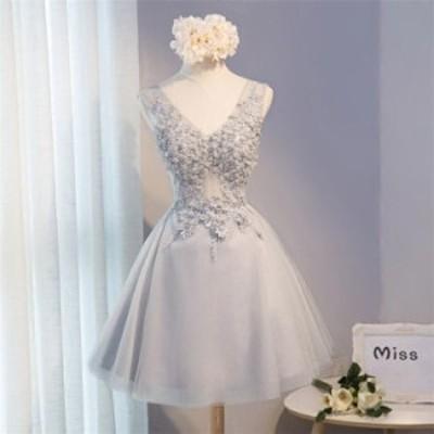 ドレス 結婚式 お呼ばれ ミモレ丈 花嫁 20代 ウエディングドレス ミニドレス カラードレス パーティードレス 二次会 diz11711107
