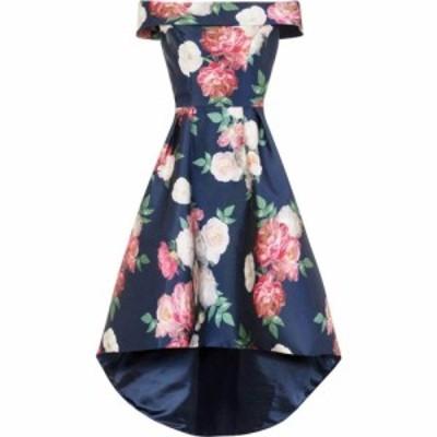 チチ Chi Chi レディース ワンピース ワンピース・ドレス Floral Print Bardot Dip Hem Dress NAVY