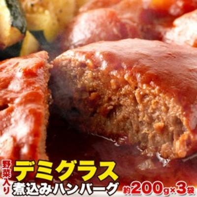 天然生活 【送料無料】SM00010334 【ゆうパケット出荷】野菜入りデミグラス煮込みハンバーグ約200g×3袋