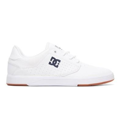 カジュアルシューズ ディーシーシューズ DC Shoes Men's Plaza Shoes ADYS100401 WHITE/NAVY