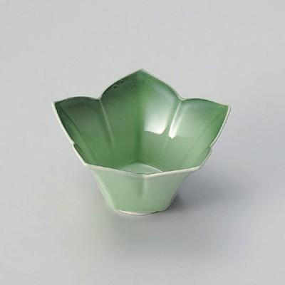 緑彩花型小鉢 和食器 小鉢(小) 業務用 約11.2cm 和食 和風 鉢 サラダ 枝豆 煮物 おひたし キムチ 冷奴