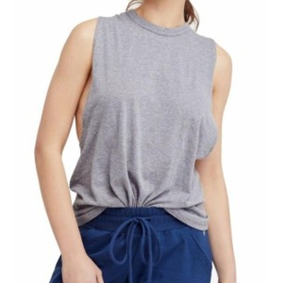 Free People フリーピープル ファッション トップス Free People Womens Gray Size Large L Twist Back Side Cut Tank Cami Top