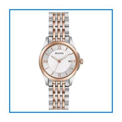 Bulova レディース ステンレススチール アナログクォーツ 腕時計 ステンレススチールストラップ マルチ 14 (モデル:98M125)