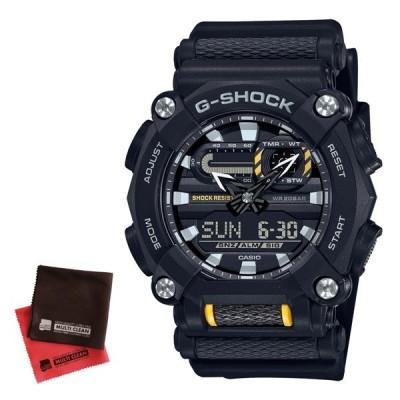 (クロスセット)カシオ CASIO 腕時計 GA-900-1AJF Gショック G-SHOCK メンズ 工業デザインモチーフ クオーツ 樹脂バンド アナデジ(国内正規品)