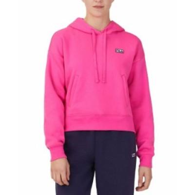 フィラ レディース シャツ トップス Women's Marina Fleece Hoodie Pink